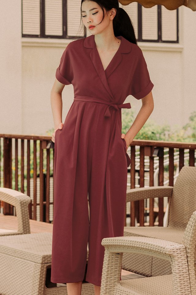 DANNI LAPEL JUMPSUIT IN DUSK ROSE