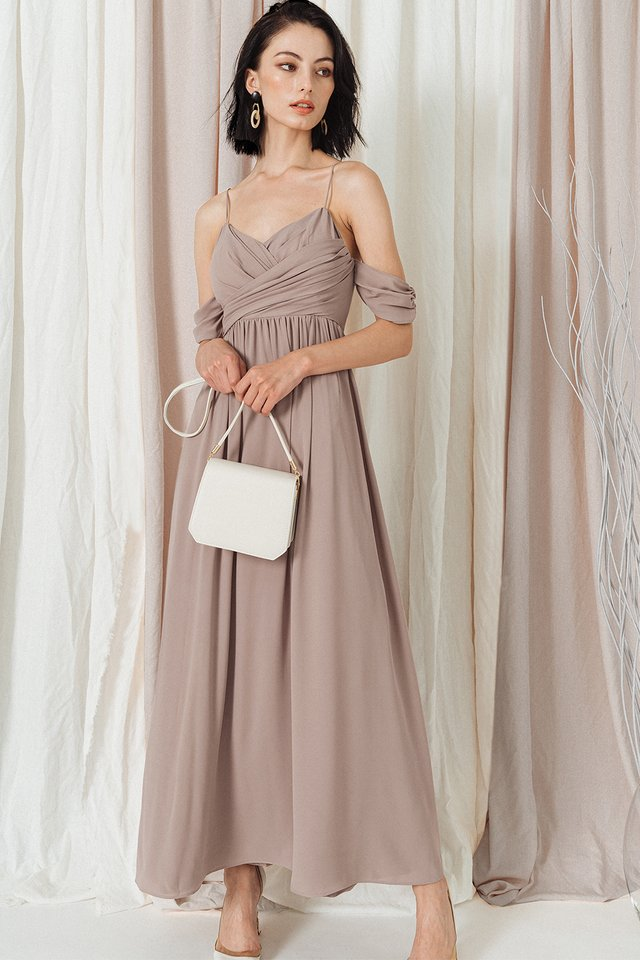 BALLY MAXI IN TAUPE
