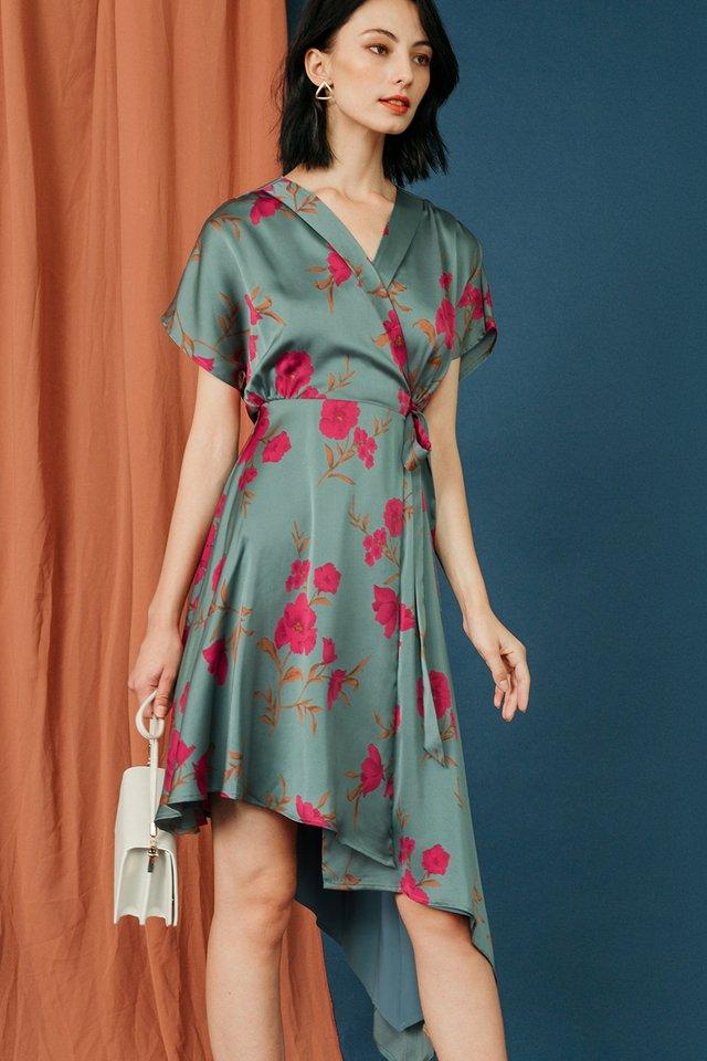EZRA KIMONO DRESS IN SAGE