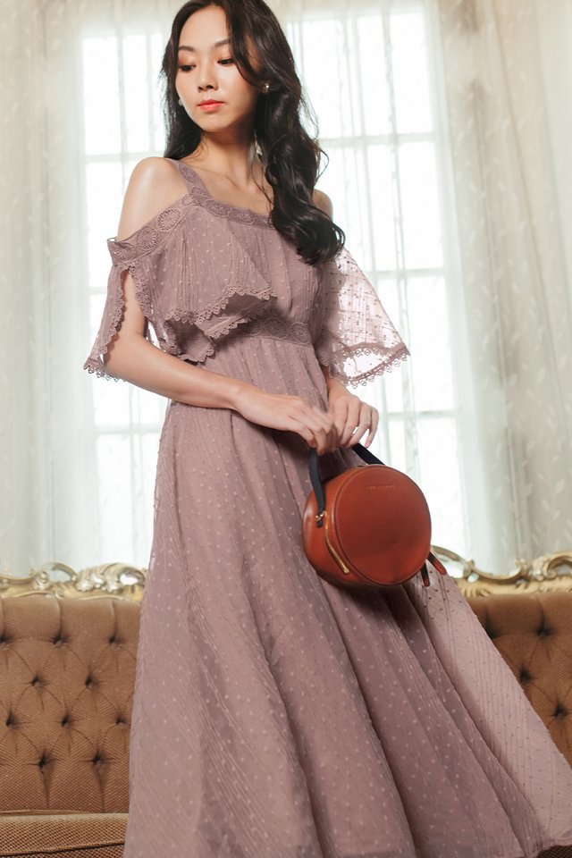MADELAINE CREPE MAXI IN DUSK PINK