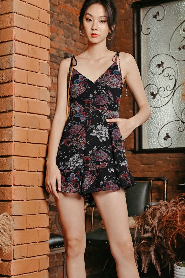 MIRRE PLAYSUIT IN BLACK