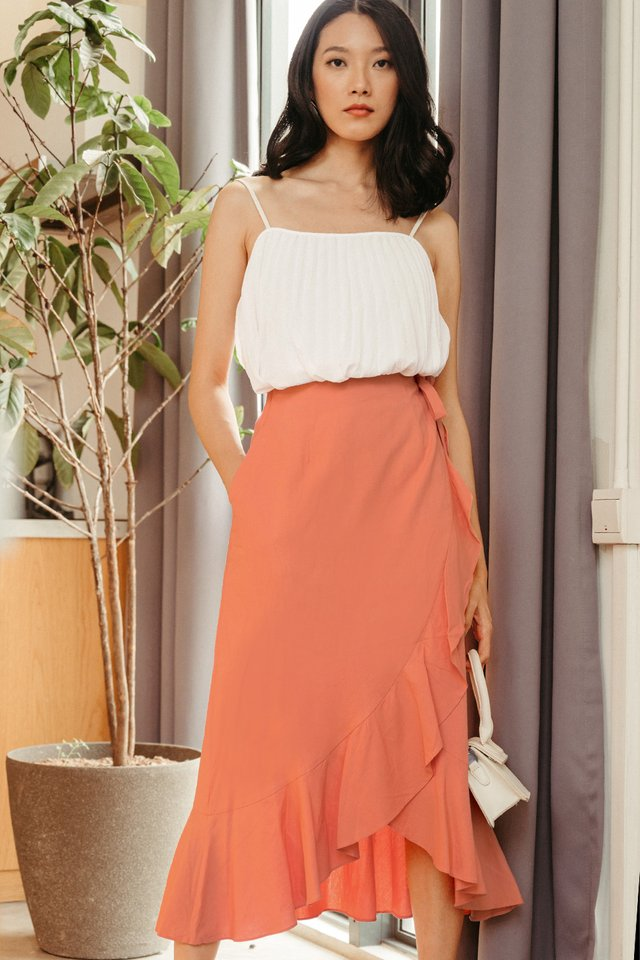 MAREK LINEN MAXI IN PEACH