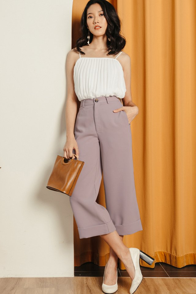 *RESTOCKED* KYNA CUFFED CULOTTES IN LILAC PINK