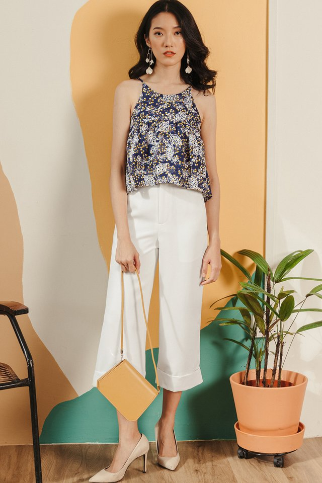 *RESTOCKED* KYNA CUFFED CULOTTES IN WHITE