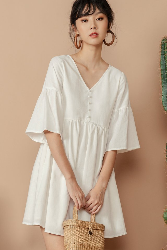 DAWN BABYDOLL DRESS IN WHITE