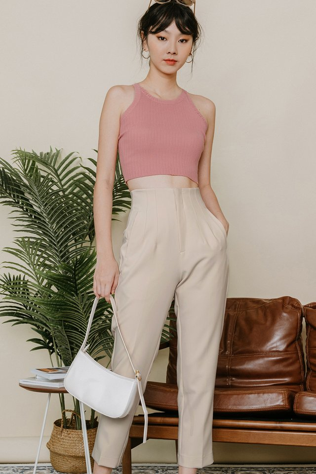 *RESTOCKED* RAIKO PANTS IN IVORY BEIGE
