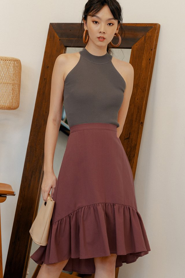 BRODY SKIRT IN MARSALA