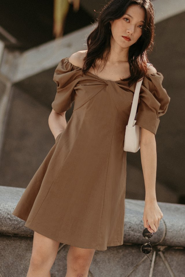 GRAYSON DRESS IN SEPIA