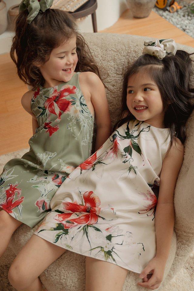 *KIDS* AUDEL DRESS IN CREAM