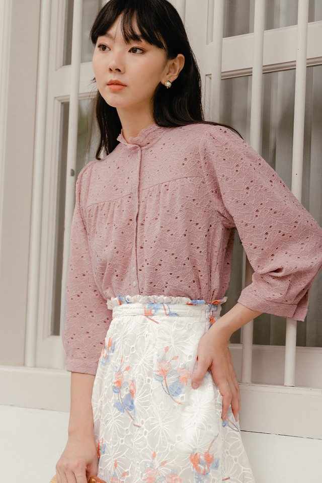 VICTOR LACE TOP IN PINK