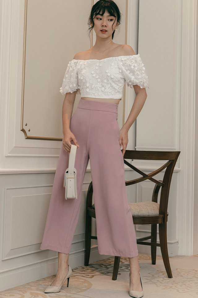 *RESTOCKED* LANGDON PANTS IN LILAC PINK