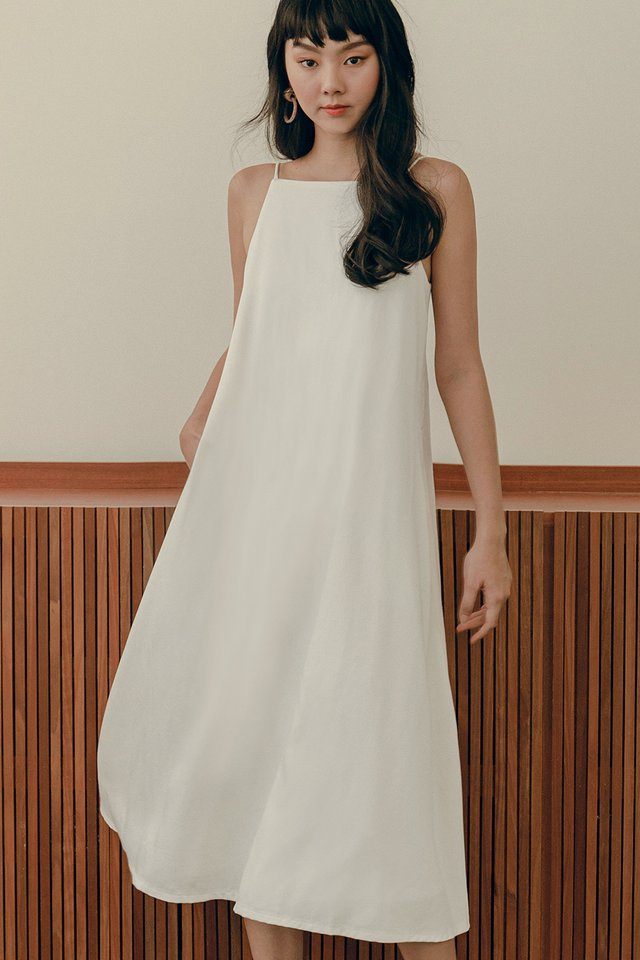 BROOK TIE BACK MAXI IN WHITE