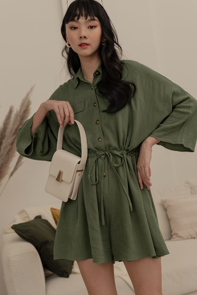 LADDY PLAYSUIT IN OLIVE