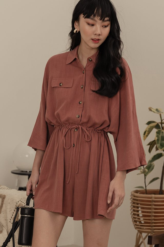 LADDY PLAYSUIT IN ROSEWOOD