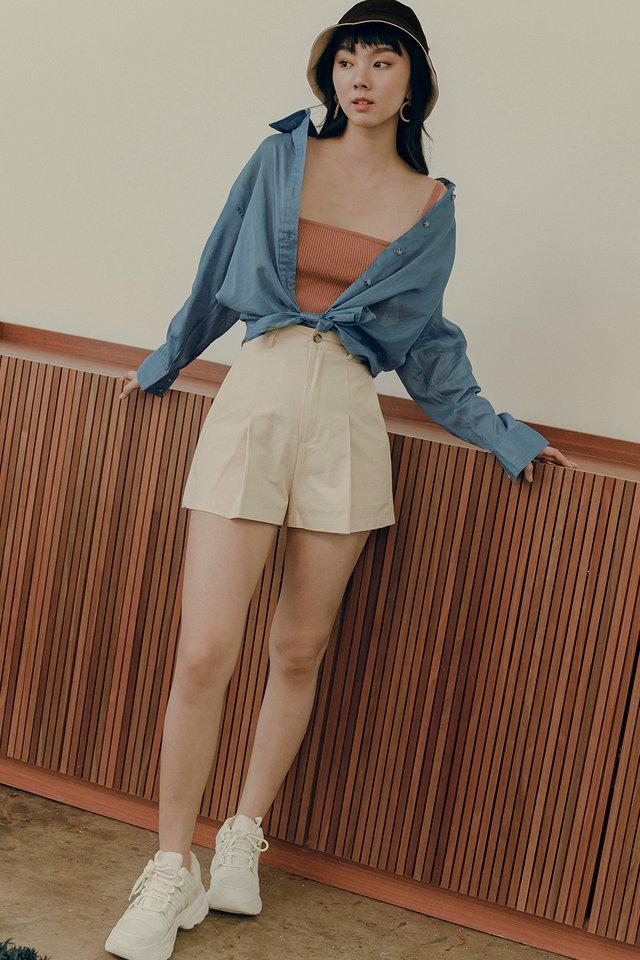 MAIKO LINEN SHIRT IN BLUE