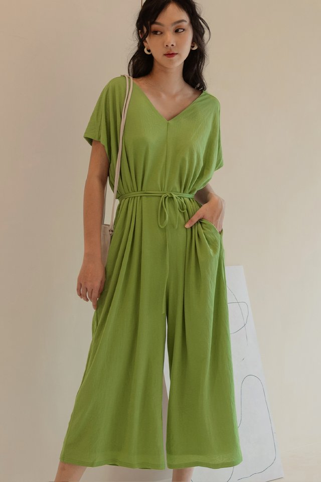 LAYTON JUMPSUIT IN APPLE GREEN