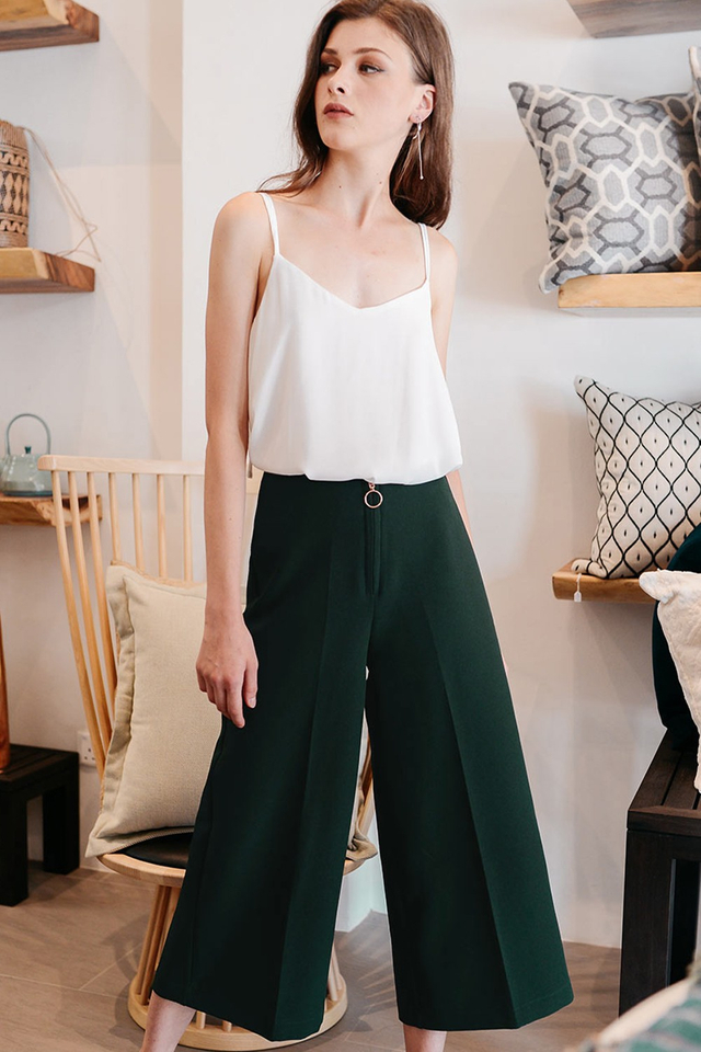 MALLORY CULOTTES IN MOSS GREEN