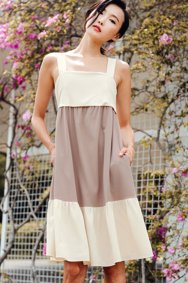 WILHELM MIDI IN TAUPE PINK