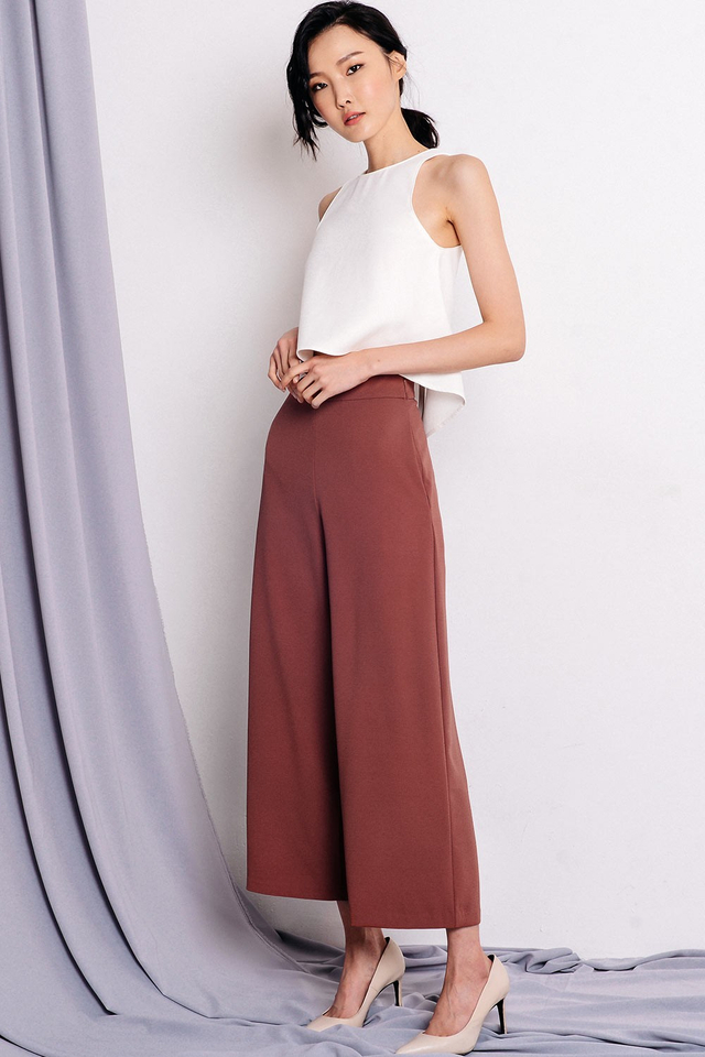 *RESTOCKED* LANGDON PANTS IN ROSEWOOD