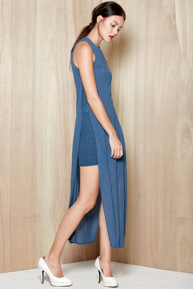 *BRIDGE* Lois Faux Maxi in Valor Blue