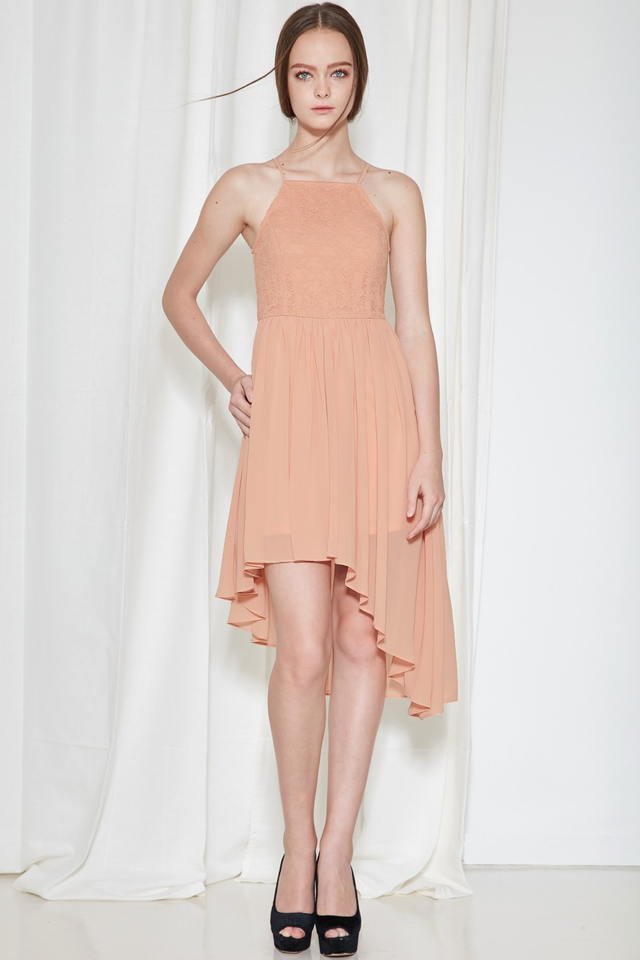 *BRIDGE* Cherish Lace Dress in Blush