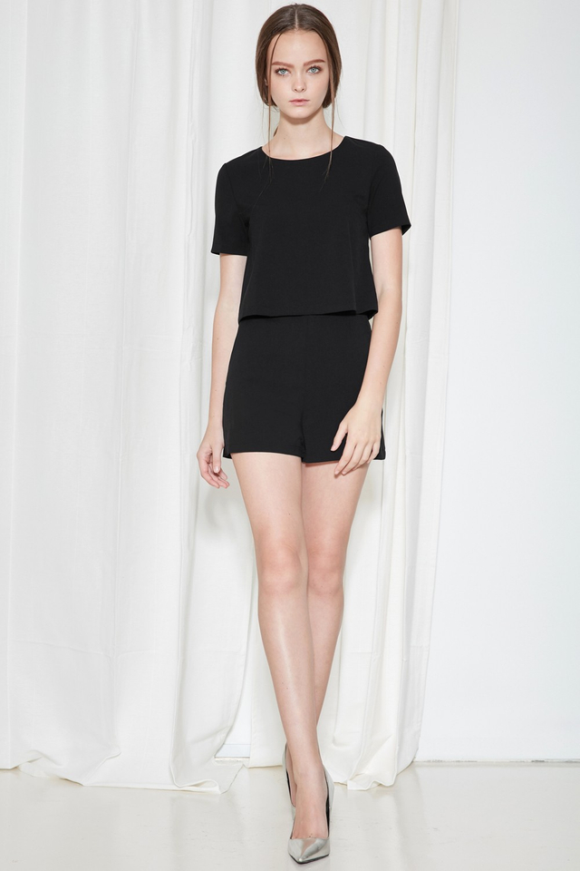 *BRIDGE* Campbell Playsuit in Black