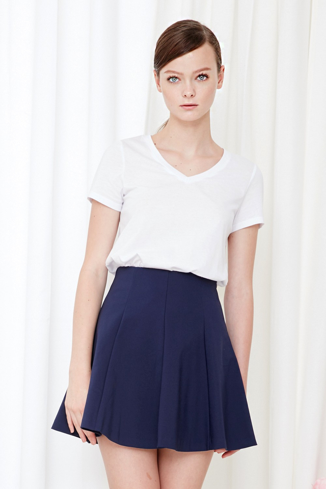 *BRIDGE* Emi Swing Skirt in Navy